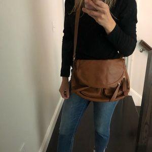 Aldo camel cross body saddlebag handbag purse